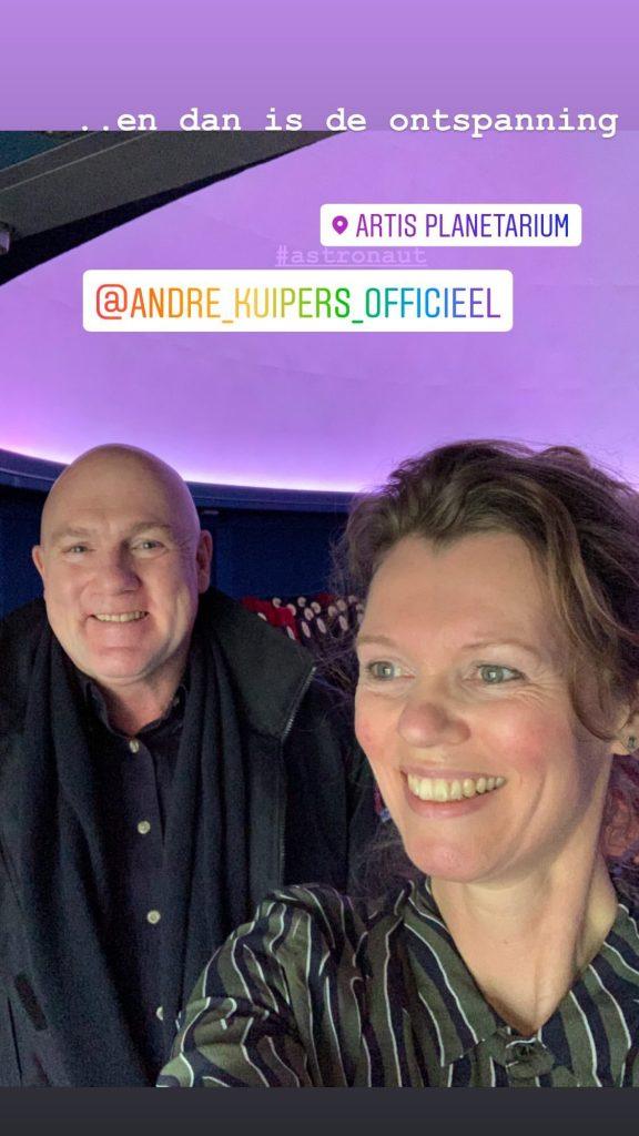 Andre Kuipers en Rianne Noordegraaf backstage